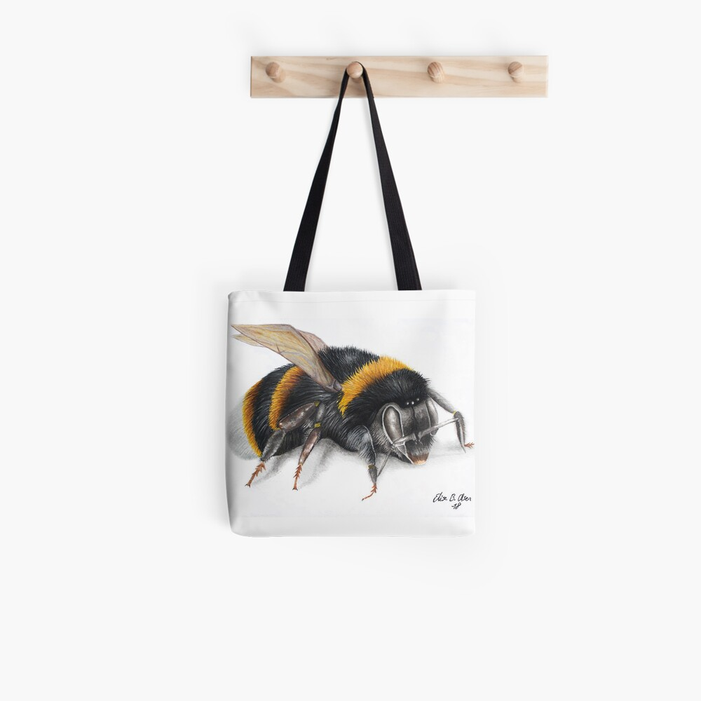 Bumble bee ink drawing Tote Bag