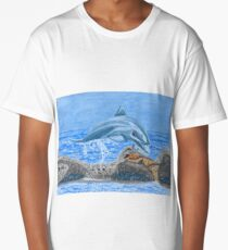 Diving dolphin  Long T-Shirt