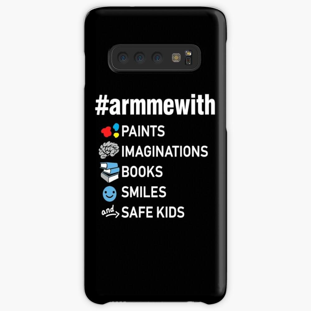 Waffenkontrolle Lehrer Shirt, Arm mich mit Büchern Hülle & Klebefolie für Samsung Galaxy