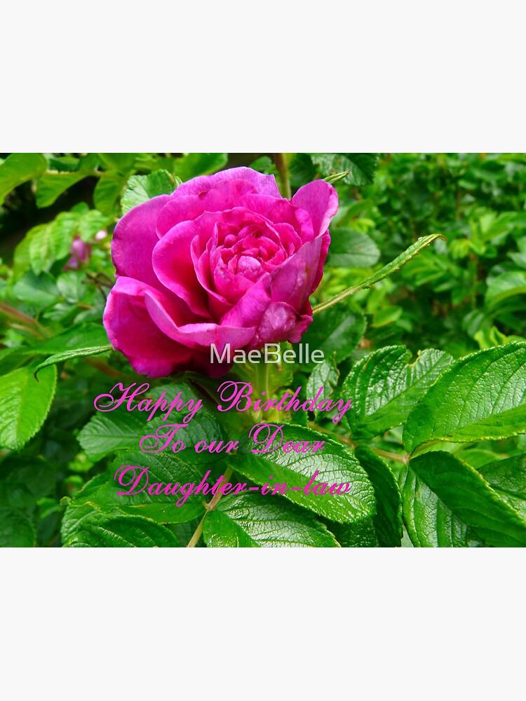 Carte De Vœux Joyeux Anniversaire Belle Fille Par Maebelle Redbubble