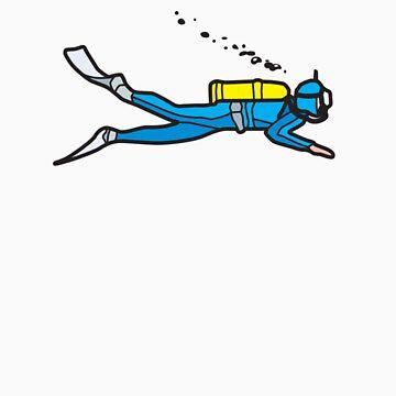 Blue diver by trebordesign