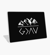 God is greater than the highs and lows Laptop Skin