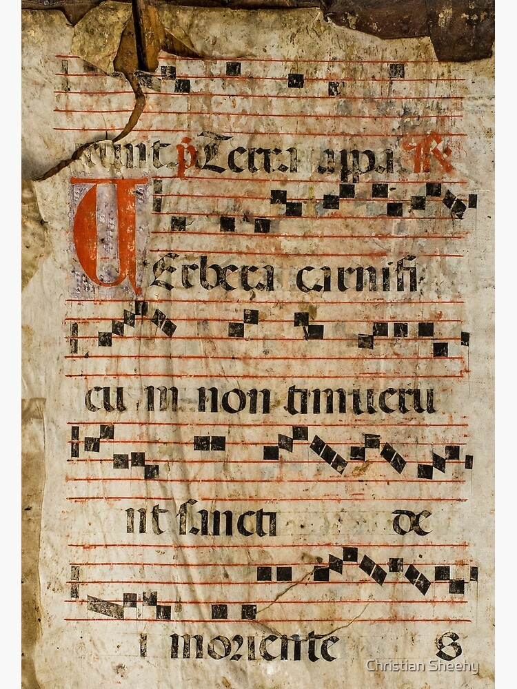Medieval Spanish Antiphonary Page by christiansheehy