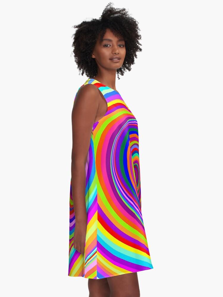 Alternate view of Hypnotic Psychedelic Vertigo Hole A-Line Dress
