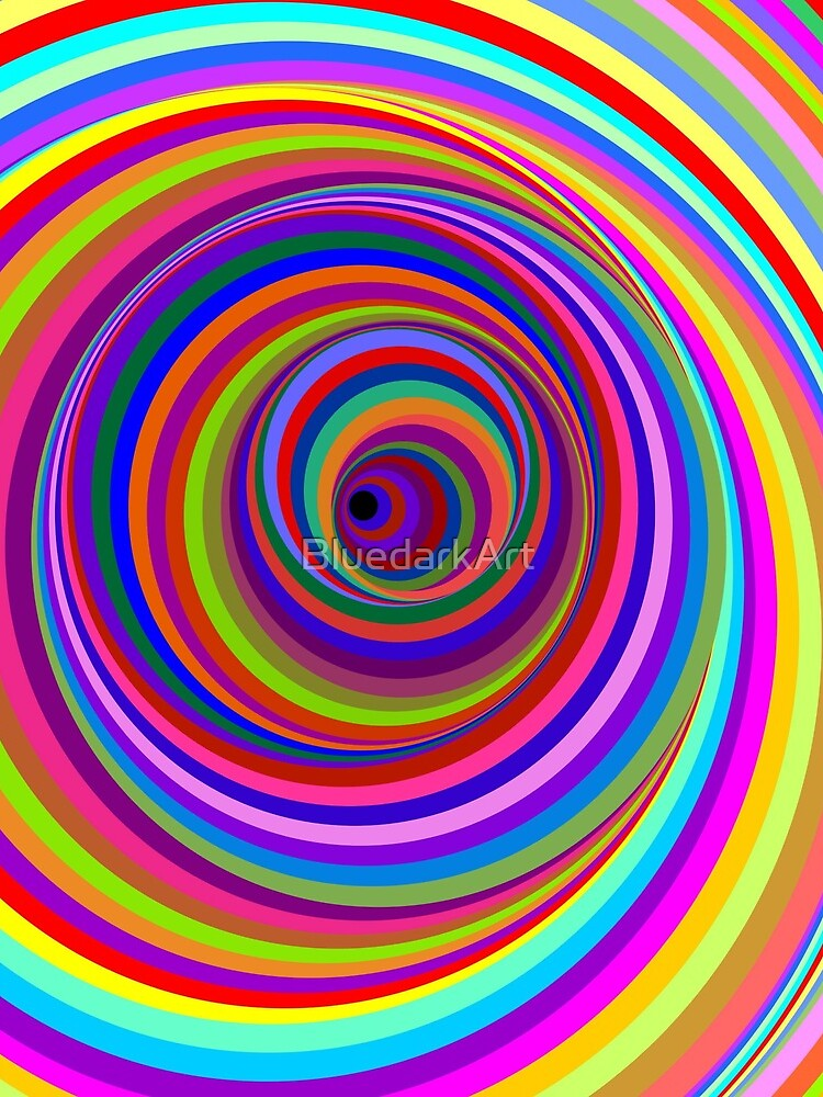 Hypnotic Psychedelic Vertigo Hole by BluedarkArt