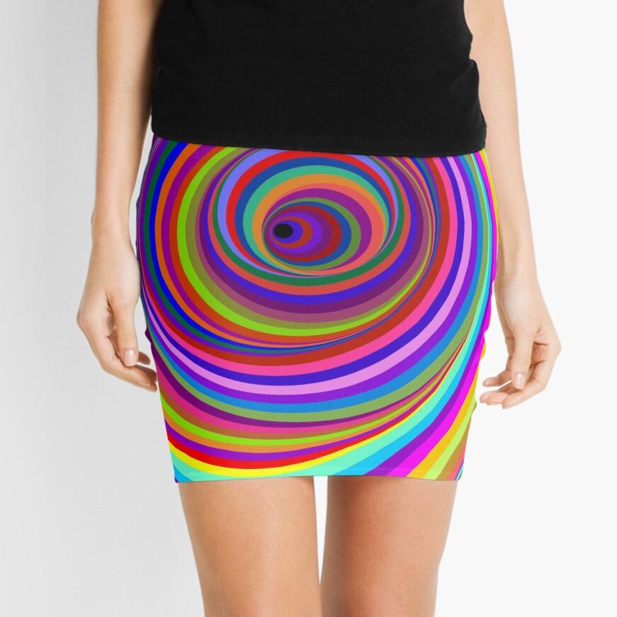 Hypnotic Psychedelic Vertigo Hole Mini Skirt