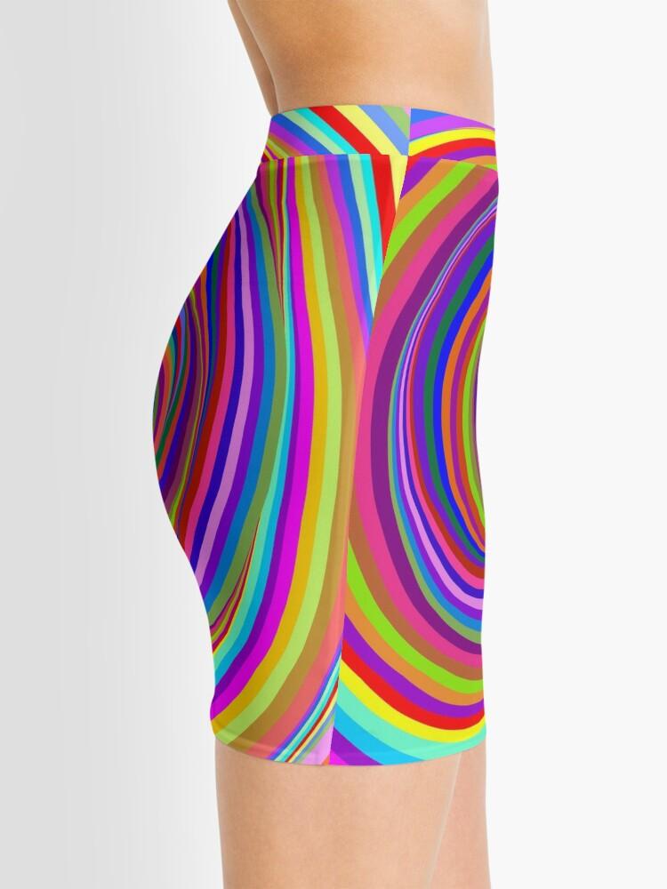 Alternate view of Hypnotic Psychedelic Vertigo Hole Mini Skirt