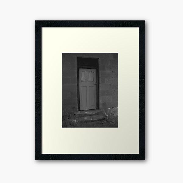 Worn Welcome Framed Art Print