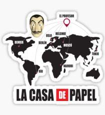 La casa de Papel Money Heist Sticker