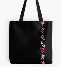 Shadowhunters runes - single line (pink watercolor) - Mundane - gift idea Tote Bag