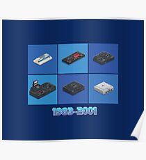 Retro Console Segaworks1983-2001 Poster