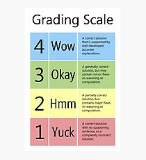 Grading Scale Photographic Print