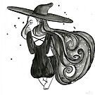 schwebende Hexe von RebeccaKiessus