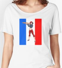 Baguette Girl Tricolore by Ian David Marsden Women's Relaxed Fit T-Shirt