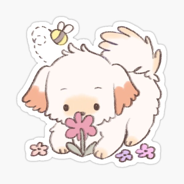 spring puppy Sticker