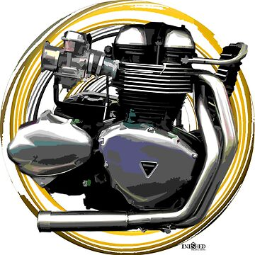 Thruxton Motorcycle engine inspired Art, Inished Productions by Melimoto