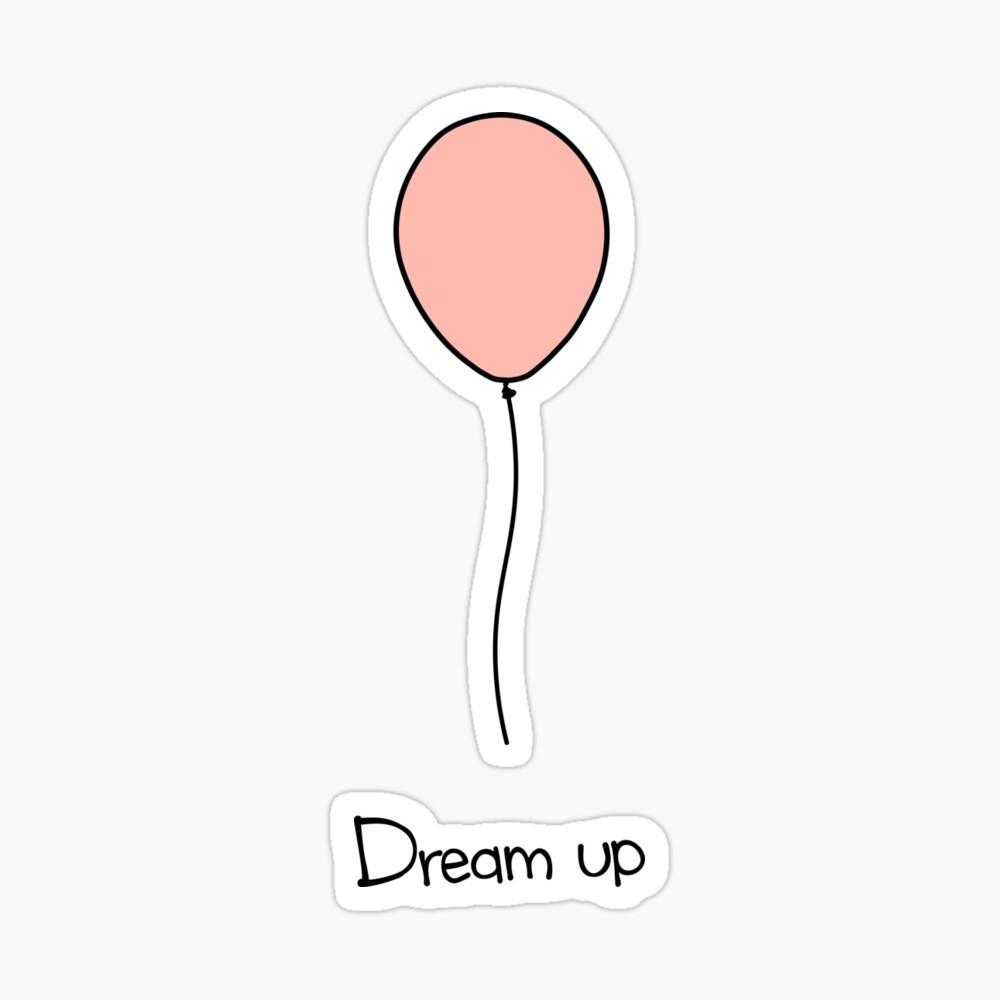 Dream-Up Balloon Drawing Mens Hoodie