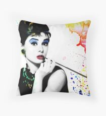 Audrey Hepburn with a twist Throw Pillow