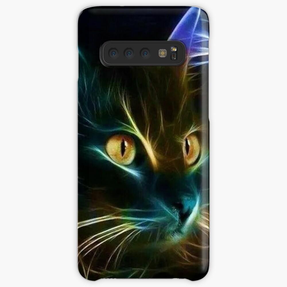 Cat Neon Funda y vinilo para Samsung Galaxy