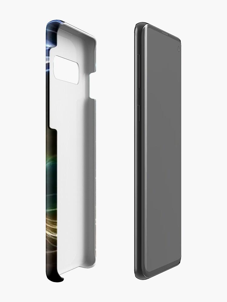 Vista alternativa de Funda y vinilo para Samsung Galaxy Cat Neon