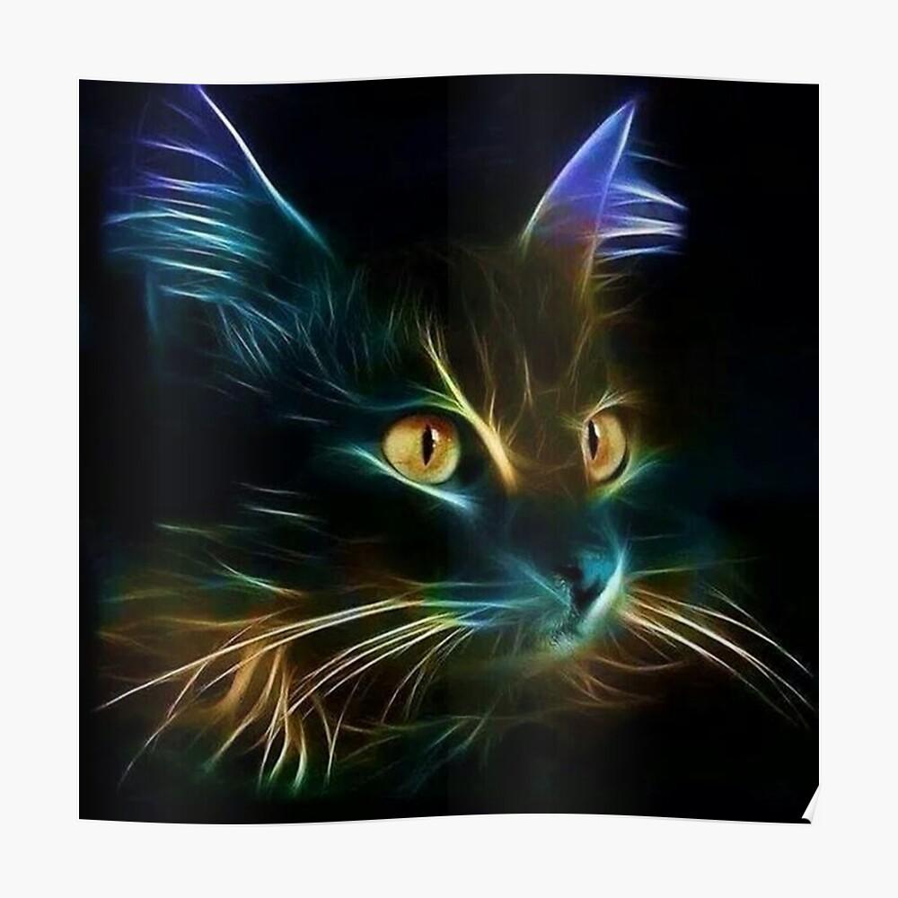 Cat Neon Póster