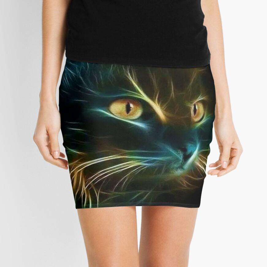 Cat Neon Minifalda