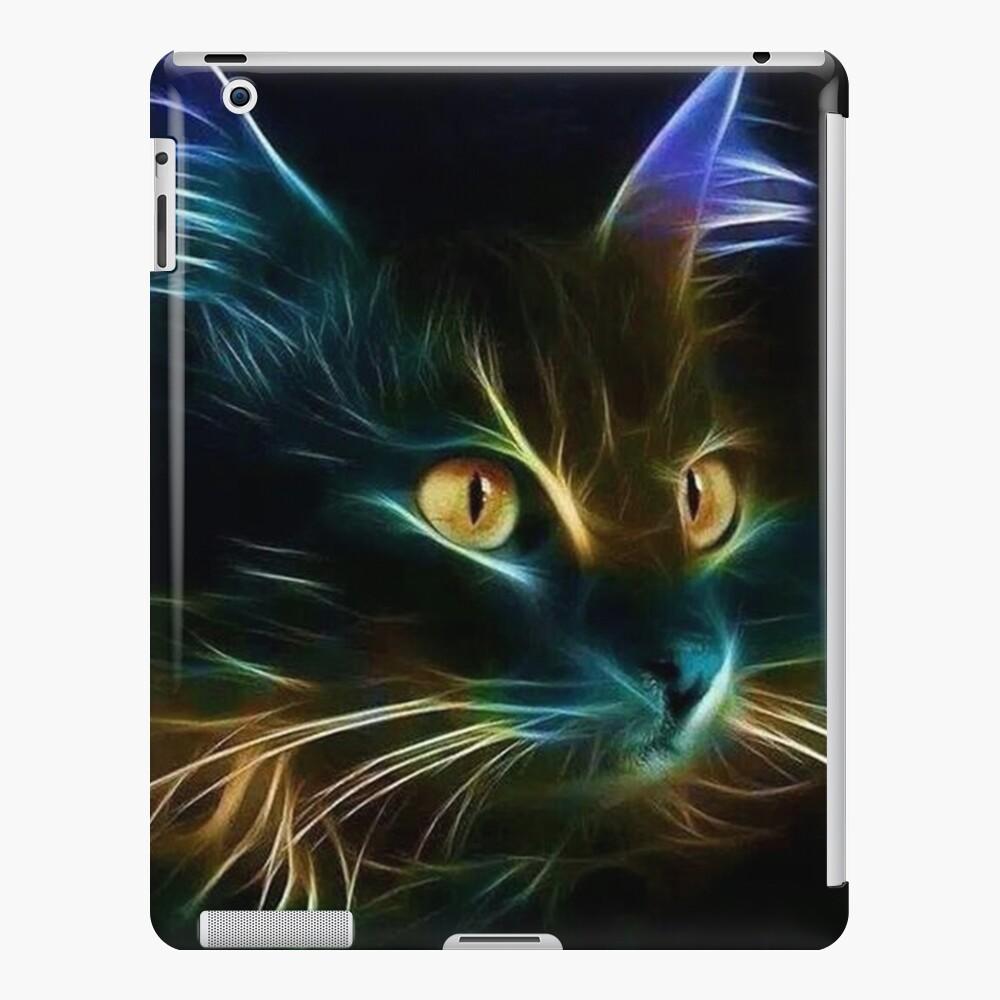 Cat Neon Funda y vinilo para iPad