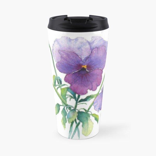 Lavender Pansy Travel Mug