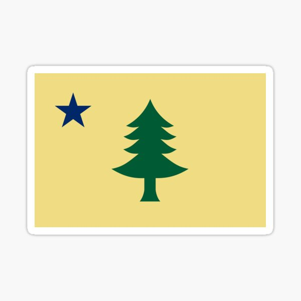 Old Maine State Flag Sticker