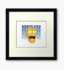 Rick and Morty stckers and more! Framed Print