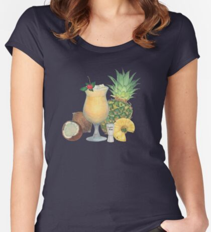 pina colada Fitted Scoop T-Shirt