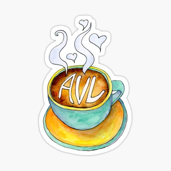 I love Asheville a Latte Sticker