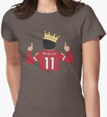 Mo Salah Egyptian King Liverpool FC Design Women's Fitted T-Shirt