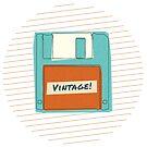 "Retro ""Vintage"" Floppy Disk Design for Computer Geeks by SpikyHarold"
