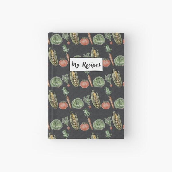 """My Recipes"" Book (Gray) Hardcover Journal"