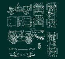 Jeep Blueprint | Unisex T-Shirt