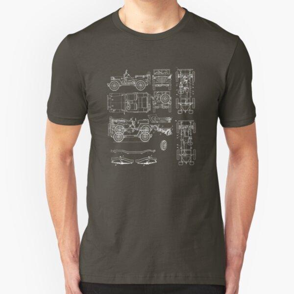Jeep Blueprint Slim Fit T-Shirt
