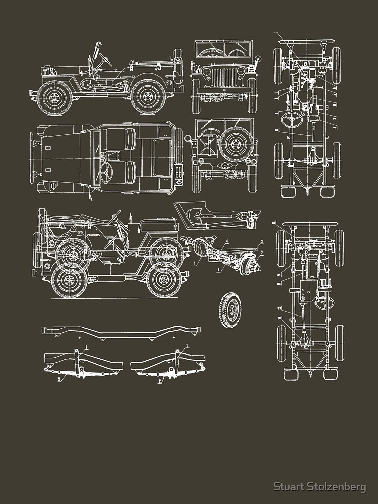 Jeep Blueprint | Unisex T-Shirt