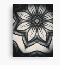 Doodle mandala flower Canvas Print