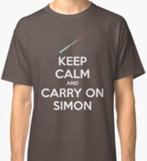 Keep Calm and Carry On Simon (White Text) Classic T-Shirt