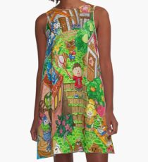 My Lovely Town A-Line Dress