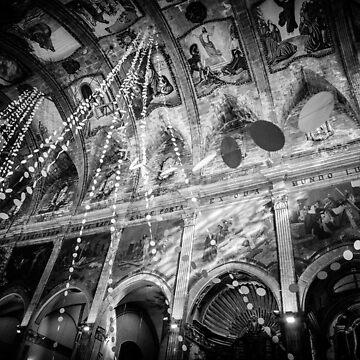 Church Reflections BW – Mallorca / Majorca by lesslinear