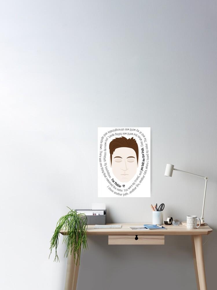 Fox Mulder Die Akte X Zitate Poster Von Sixhours Redbubble