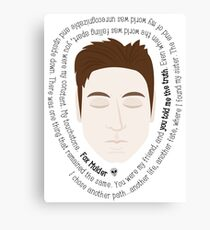 Fox Mulder - The X-Files Quotes Canvas Print