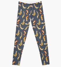 chub geckos in dark grey Leggings