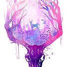 Deer Skull Circle of Life by ploveprints