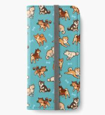 shibes in blue iPhone Wallet/Case/Skin