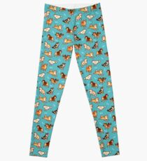 Shibes in Blau Leggings