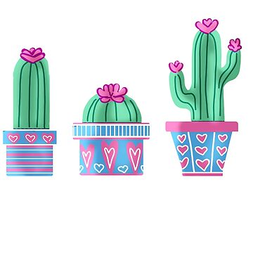 Cactus and Hearts by haleydevers