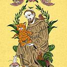 Heiliger Franziskus von Tieren von Carolina  Zambrano Enriquez
